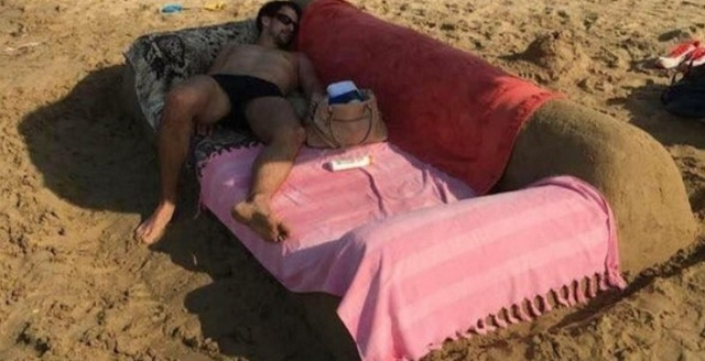 Couch On The Beach