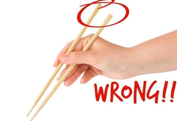 Erroneous Use Of Chopsticks
